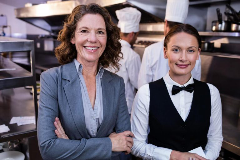Two gorgeous woman smiling